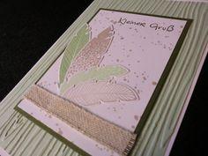 Grüße - Grußkarte - Federn - Kleiner Gruß - ein Designerstück von kreativesherzerl bei DaWanda