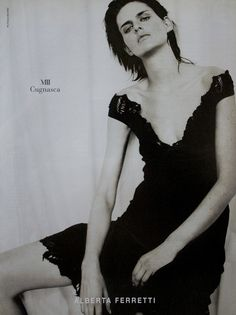 Stella Tennant | Photography by Paolo Roversi | For Alberta Ferretti Campaign | Spring 2000