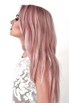 amazing mermaid hair looks Auburn Hair With Highlights, Hair Color Auburn, Hair Color Pink, Hair Color Highlights, Hair Color Balayage, Haircolor, Lime Crime Hair Dye, Dusty Pink Hair, Violet Hair