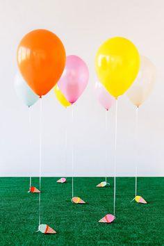 DIY Ice Cream Balloon Weights  via Plaid Palette