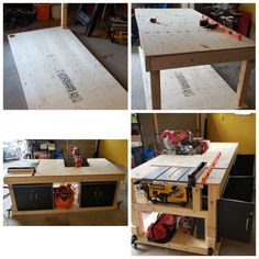 Built this for around $300 including the casters which cost $100 from Amazon.ca Mobile Workbench, Garage, Amazon, Building, Carport Garage, Amazons, Riding Habit, Amazon River, Buildings