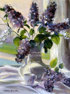 Lilacs in the Window Victoria Brooks