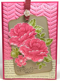 Stampin' Up!  Stippled Blossoms;