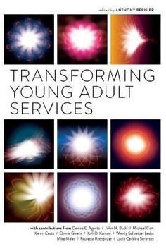 Transforming young adult services / edited by Anthony Bernier. / Chicago : Neal-Schuman, an imprint of the American Library Association, 2013. -- Exploring the question of what an LIS-specific vision of young adults should be, this book offers a wide array of provocative positions with implications for libraries in literacy initiatives, YA space, intergenerational interactions, and civic life.
