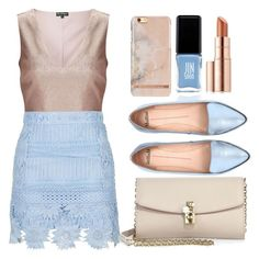 """Untitled #34"" by jarzembovska555 on Polyvore featuring Miss Selfridge, Dolce&Gabbana, Mollini, JINsoon and Estée Lauder"