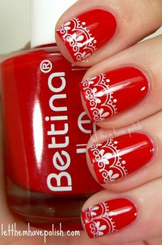 lace...would've been perfect graduation nails...