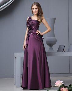 Gorgeous  Read More:     http://www.weddingsred.com/index.php?r=one-shoulder-taffeta-floor-length-dress.html