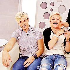 """""""ROSS STOP BEING ADORABLE!!!! I've actually seen this video... He broke the couch..."""" Lol, he actually broke it..."""