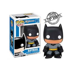 Holy Action Figures, Batman! You'll love this Batman Pop Heroes Vinyl Figure at home or in this office, ready to fight crime. - Part of the Funko Pop! Vinyl Figure DC Comics collection - Head of figur