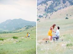 A Rocky Mountain Proposal (images by captivatedphotographyco.com).