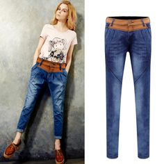 Cheap Jeans on Sale at Bargain Price, Buy Quality pants plus size women, pants skateboard, pants side from China pants plus size women Suppliers at Aliexpress.com:1,Jeans Style:Harem Pants 2,Gender:Women 3,combination form:separate 4,pattern:solid color 5,Thickness:Midweight