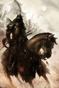 Real Samurai Warriors | Warriors in art: Samurai by Andreas von Cotta