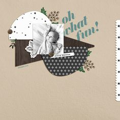 Oh what fun digital scrapbook page using Holly Days by Sahlin Studio