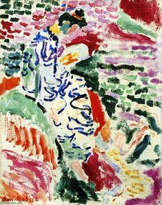 'Femme japonaise au bord de la mer (aussi connu comme femme à côté de l eau)', huile sur toile de Henri Matisse (1869-1954, France)