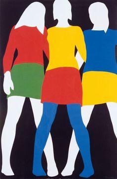 Mireille, Colette, Anne by Franz Gertsch, (1967)