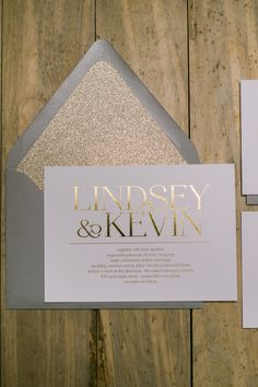 BLAIRE Suite Glitter Package, grey and gold, gray, gold, gold foil, luxury wedding invitations, glitter, spring 2016 wedding ideas