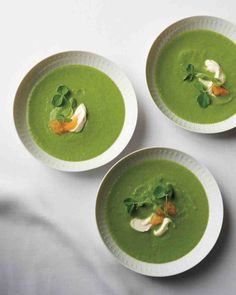 Pea and Parsley Soup with Golden Caviar Recipe