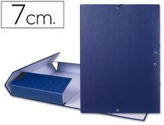 Carpeta proyectos Liderpapel folio lomo 70mm carton forrado azul 25291, Hipermaterial.