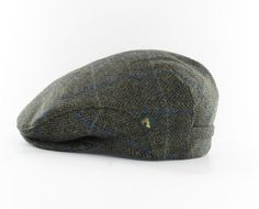 3675f1360e1 Irish Tweed Cap Green Plaid Herringbone 100% Wool Get the perfect touch to  an Irishman s
