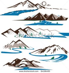 Stock Images similar to ID 135895334 - various flowing water rivers...