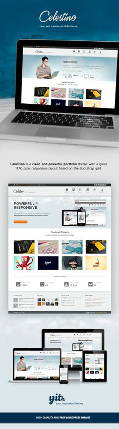 CELESTINO – CLEAN AND CREATIVE PORTFOLIO THEME on Behance