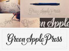 Green Apple Press Custom Type Logo: Case Study by Sean McCabe via Dribbble.  He is amazing!