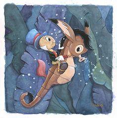 *JIMINY CRICKET ~ Pinocchio, 1940 Disney Marvel, Disney Mickey, Disney Pixar, Walt Disney, Disney Cartoons, Disney Movies, Disney Fine Art, Jiminy Cricket, Dreamworks Movies