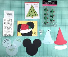 Tips With Gail I recently had a friend ask me if I could help her with a Christmas gift. She wanted cards made for her kids to announce their trip to Disneyland. It involved playing … Diy Disney Cards, Disney Christmas Cards, Mickey Mouse Christmas, Disney Diy, Disney Crafts, Disney Holidays, Christmas Scrapbook Layouts, Disney Scrapbook, Scrapbook Cards