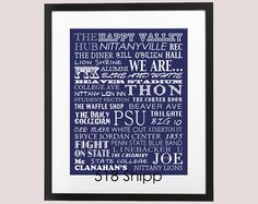 Visit this etsy shop!!!  Awesome gift for either a student or graduate, or just to display in your bedroom or dorm room :)