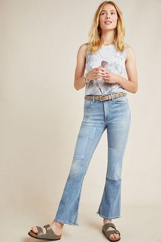 Citizens of Humanity Kaya High-Rise Kick Flare Jeans by in Blue Size: 28 Womens Denim at Anthropologie Kick Flare Jeans, Flare Jeans Outfit, Jeans Outfit Summer, Saturday Outfit, Citizens Of Humanity Jeans, High, Denim Fashion, Kicks, Clothes For Women