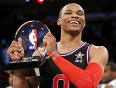 In the highest scoring game in NBA All-Star Game history, Oklahoma City Thunder guard Russell Westbrook nearly scored the most points by an individual in an All-Star Game. Westbrook earned Most Val...