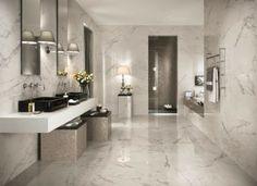 Idée luxueuse salle de bain avec meuble double vasque