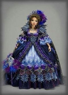 Queen of the Night - Gallery 2014 - Antique Lilac Ooak Dolls, Barbie Dolls, Victorian Dolls, China Dolls, Doll Costume, Little Doll, Madame Alexander, Historical Costume, Ball Jointed Dolls