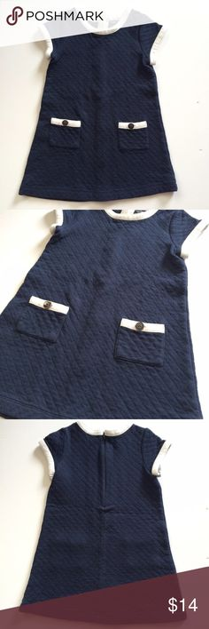 Gap dress Adorable Gap quilted dress! Navy blue and white! So cute and in EUC. GAP Dresses