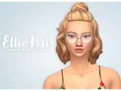 Ellie Hair Comes in all default EA colors Hat Compatible Base-Game Compatible Retexturing/Recoloring is allowed but don't include t...
