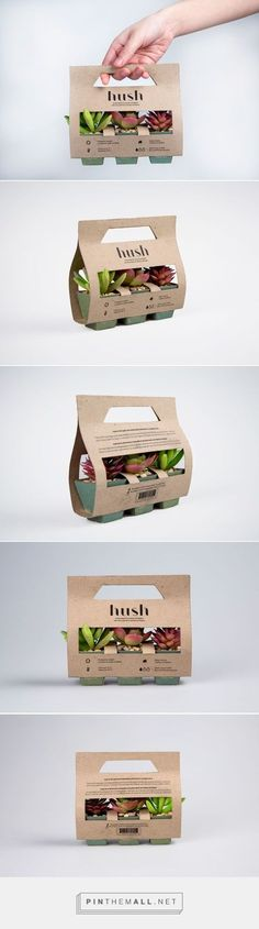 Simple, practical and beautiful packaging for succulents and cacti. Hush succule… Simple, practical and beautiful packaging for succulents and cacti. Hush succulents and cactuses by Samantha Goh. Pin curated by Small Succulents, Succulents Garden, Succulent Ideas, Succulent Plants, Flower Packaging, Juice Packaging, Beauty Packaging, Innovative Packaging, Packaging Design Inspiration
