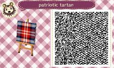 ACNL/ACHHD QR CODE-Wall, Fabric-Plaid
