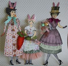 Jackie Peters makes Easter Paper Dolls using Character Construction Stamps