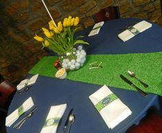 Hostess with the Mostess® -  Golf Party table setting