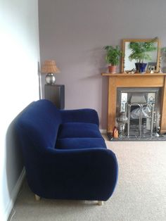 Loaf Flapjack Sofa In Midnight Blue