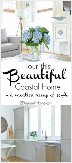 Beautiful beach house tour in for rent Beach House Tour, Beach Condo, Beach House Decor, Home Decor, Florida Apartments, Beautiful Beach Houses, Ship Lap Walls, Florida Vacation, Coastal Homes
