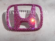 Swarovski Crystal Honda H Emblem! Black, Pink, Gold, any color! Kids Boy, Pink And Gold, Purple, Car Accessories For Girls, Baby Shower, License Plate Frames, Disney, Swarovski Crystals, Honda