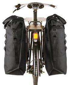 Chrome Bags Knurled Welded heavy duty waterproof lightweight saddle pannier bags for bicycle touring and commuting