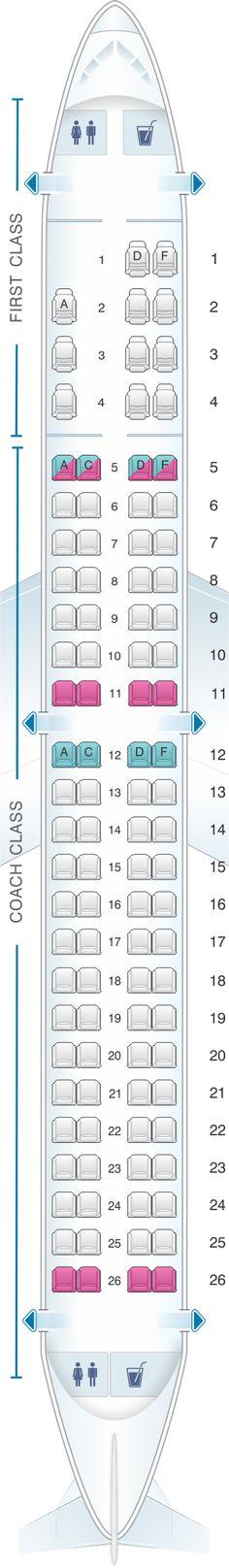 Seat Map US Airways Embraer 175