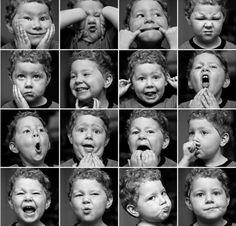 Une sélection de modèles d'expressions du visage pour tout ceux qui n'ont pas forcément un miroir pour faire différentes grimaces.