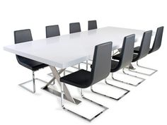 Dining Tables at Voyager Furniture. Like the Boardroom Stone Dining Tables, perfect for any home. Visit our website or a showroom, Church street, Richmond and Howitt street, Ballarat, Victoria.