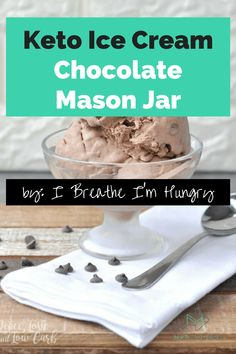 low-carb kept ice cream - chocolate mason jar On a Keto diet you are restricted where carbs are concerned, but with these 10 low-carb keto ice cream recipes, you can eat to your heart's content. Cheesecake Ice Cream, Ice Cream Desserts, Ice Cream Recipes, Low Carb Sweets, Low Carb Desserts, Mason Jar Ice Cream Recipe, Sugar Free Low Carb Recipe, Buttermilk Ice Cream, Keto Friendly Ice Cream