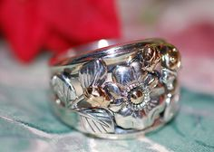 Barry Kieselstein Cord Sterling Silver 925 14k Gold Lady Bug Ring 2008