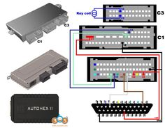 Autohex II BMW CAS4 bench programming wiring diagram. No need to solder wires to CAS4 for reading in autohex. You can connect CAS4 along with any ZGW using our tricore cable. All Bmw Models, Bmw Key, Key Programmer, Used Bmw, Coding, Programming, Connect, Cable, Cabo