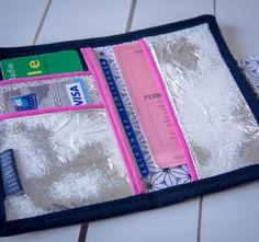 Tutoriel de couture vidéo pour coudre un porte carte de soirée.